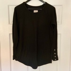 💕CHASOR Long Sleeve Black Waffle Thermal Top M💕